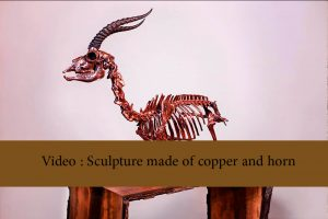 Video   Sculpture made of copper and horn 300x200 - Sculpture